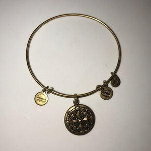 Alex and Ani Compass Charm Expandable Bracelet